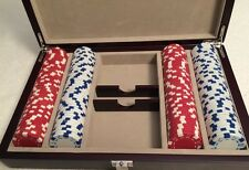 Poker Chips AutoMart.com 90 Red  & 90 White In Beautiful Things Remembered Box