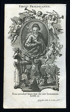 santino incisione 1700 litanie lauretane VIRGO PRAEDICANDA klauber