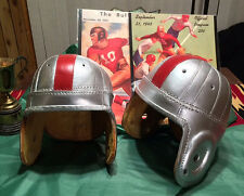 1940  Ohio State Buckeyes style Leather Football Helmet Bowl Bound