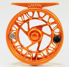 GALVAN BROOKIE B 4/5 ULTRA LIGHTWEIGHT LARGE ARBOR FLY REEL RARE BURNT ORANGE