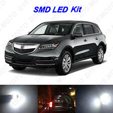 12 x Xenon White LED Interior Light Bulbs for 2014-2016 2017 Acura MDX
