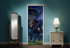 Door Mural Fairy tale Enchanted Forest View Wall Stickers Decal Wallpaper 211