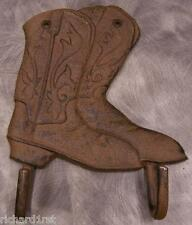 Robe Coat Hook Weathered cast iron Cowboy Boots NEW