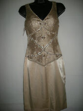 New Sue Wong nude formal dress US0, UK4/6 RRP £269