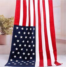 "30""x60"" US UNITED STATES Flag Banner Big COTTON BEACH BATH POOL TOWEL"