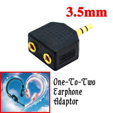 3.5mm 1 to 2 Double Earphone Headphone Y Splitter Cable Cord Adapter Jack Plug