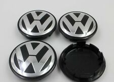 4 X 75mm Black Chrome Wheel Center Hub Caps Badge Emblem For VW VOLKSWAGEN