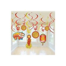 Party Supplies Chinese New Year Hanging Swirls Mega Pack of 12