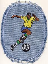 Fussballer Fußball Jeansflick Aufnäher Aufbügler Patch OVP #9226 Soccer Football