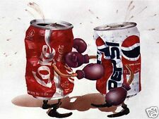 Boxing Coke vs Pepsi cans, Refrigerator Magnet, 40 MIL THICKNESS