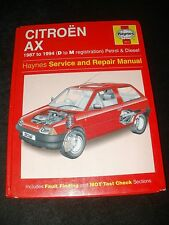 CITREON AX WORKSHOP MANUAL 1987 TO 1994 ( D TO M REG ) PETROL AND DIESEL