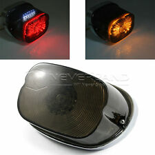 Smoke LED Tail Brake Turn Light For Harley Dyna Sportster Electra Low Rider