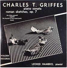 GRIFFES: Piano Sonata LEONID HAMBRO Piano WALDEN 50s USA ORIG Vinyl LP NM-