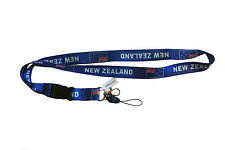 NEW ZEALAND BLUE COUNTRY FLAG LANYARD KEYCHAIN PASSHOLDER .. NEW