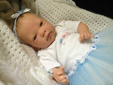 """ OLIVIA "" 18  INCH BEAUTIFUL OPEN EYES REBORN BABY GIRL MAGNETIC DUMMY"