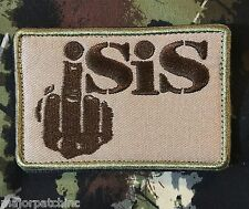 FXCK ISIS MIDDLE FINGER USA INFIDEL ARMY MORALE TACTICAL MULTICAM VELCRO PATCH