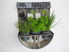 Wooden Wall Garden Planter Herb Window Box Plant Shabby Chic Vintage Style