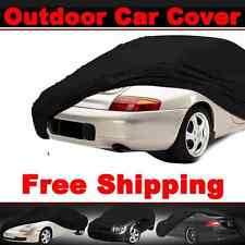 Outdoor Full Black Car Cover Indoor Waterproof All Weather Breathable for Toyota