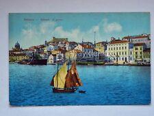 SEBENICO SIBENIK Dalmazia il porto barca vela vecchia cartolina AK