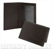 SALVATORE FERRAGAMO black Mini GANCINI embossed ID window Card Case NIB Authentc