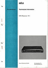 Service Manual-Anleitung für Braun R 1