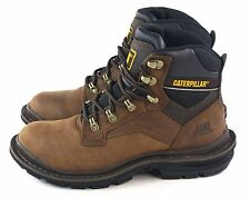 "Caterpillar Mens Generator 6"" Soft Toe Work Boot P73733 Dark Brown Size 7 Wide"