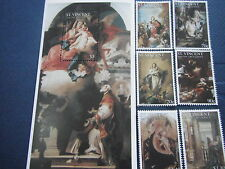 St. Vincent & Grenadines-Art-Painting-Christmas painting-2001-complete set