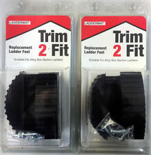 Trim 2 Fit Replacement Ladder Safety Feet Trim to Fit - 2 x Pairs (4 Feet)
