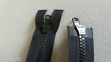 "YKK VISLON BLACK CHUNKY PLASTIC ZIP 5 VS ( 74 CM / 29 "" ) OPEN END DOUBLE ZIP"