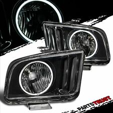 [CCFL Halo]Fit 2005 2006 2007 2008 2009 Ford Mustang Black Headlights Pair