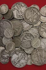 Make Offer 32 Standard Ounces Silver Roosevelt Walking Liberty Half Dollars Junk
