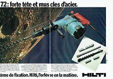 PUBLICITE ADVERTISING 027  1980   Hilti (2p) système de fixation  TE72