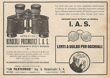 Z0173 La Filotecnica Ing. Salmoiraghi - Binocolo Ariès - Pubblicità del 1928