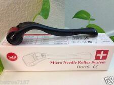 540 Titanium Black MicroNeedle Derma Roller 1.0mm - Derma Wrinkles Scars Acne