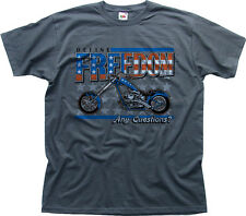 Harley Davidson chopper easy rider america charcoal cotton t-shirt 0181