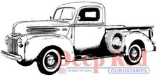Deep Red Cling Rubber Stamp Rubber Stamp Classic Pick up Truck