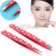 2Pcs New Women Stainless Steel Hair Removal Eyebrow Tweezer Beauty Makeup Tools