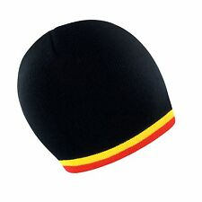 Belgium Belgian Belgique Soccer Football Team Woolly Beanie Hat - One Size