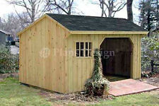 8' x 10' Firewood Storage Shed Plans, Material List Included #70810