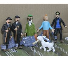New 6x Toys Tin Tin PROFESSOR Dupont Milou Captain Haddock 3in. Figure Gift M666