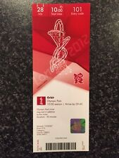 LONDON 2012 TICKET ORBIT OLYMPIC PARK 28 JULY 1000 £15 *MINT*