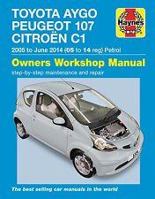 Peugeot 107 Repair Manual Haynes Workshop Service Manual  2005-2014