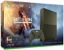 New Microsoft Xbox One S 1TB Battlefield 1 Special Edition Console Bundle Green