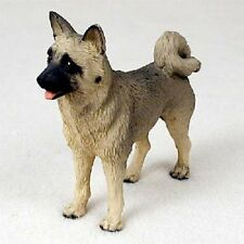 AKITA Dog HAND PAINTED FIGURINE Resin Statue COLLECTIBLE Fawn Brown Puppy NEW