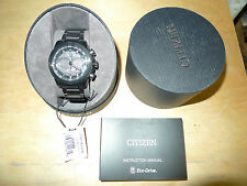 Citizen Eco-Drive CA4184-81E Ecosphere Stainless Steel All Black Men's Watch