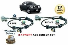 FOR NISSAN NAVARA D40 2.5 DT DCi PICKUP 2005--  2 X FRONT ABS SPEED SENSOR SET