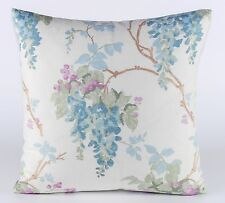 """New Laura Ashley Fabric Cushion Covers 16"""" Wisteria Duck Egg / Pistachio Floral"""