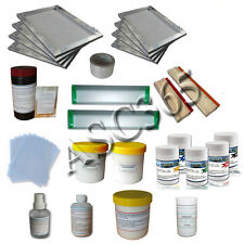 T-Shirt Screen Printing Materials Kit 5 Color Pigment Emulsion  Squeegee Coater