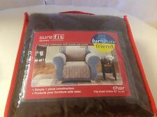 Pet Throw Sure fit Soft Suede Furniture Slipcover Chair New Brown Chocolate  Dog