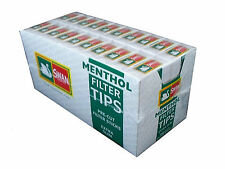 20 Boxes Swan Menthol Extra Slim Cigarette Filter Tips Pre Cut 2400 Tips FullBox